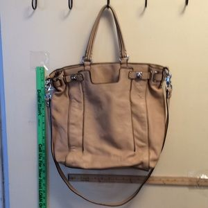 Banana republic leather tan large handbag